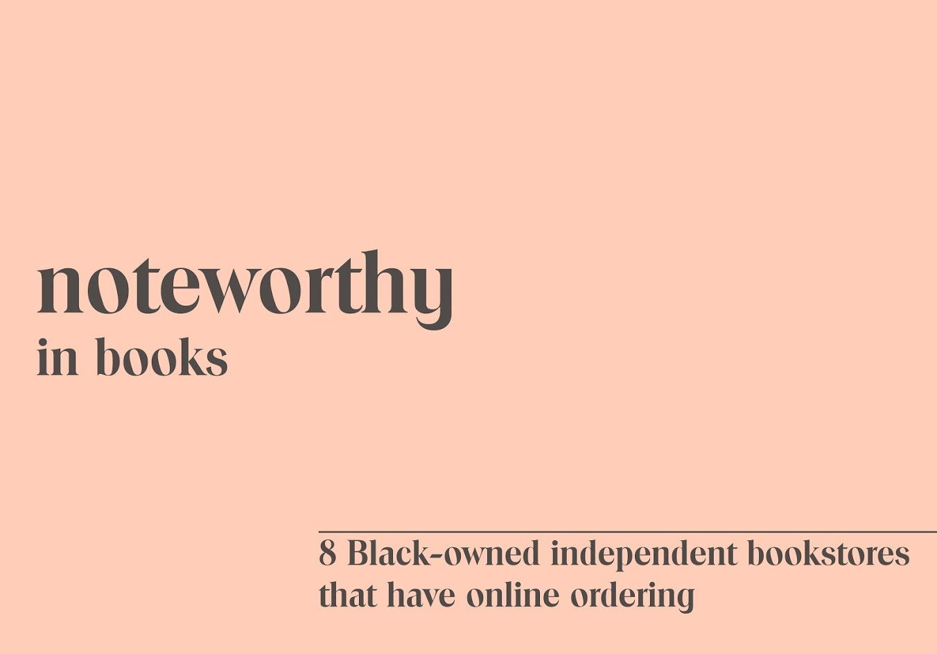 8 Black Owned Bookstores That Have Online Ordering