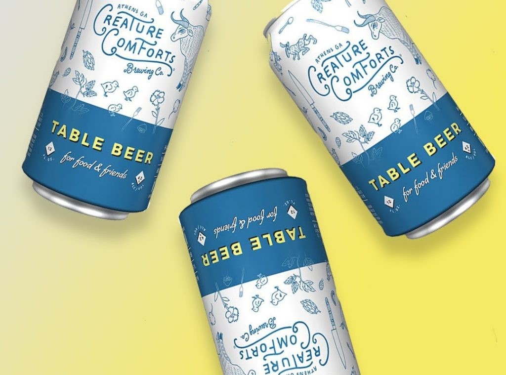 creature comforts table beer
